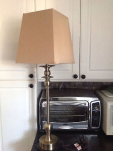 """36"""" Tall table / desk lamp with square shade"""