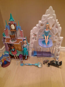 Disney's Frozen toy bundle, castle, dolls etc
