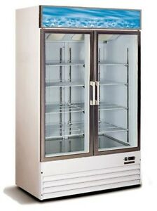~*GREAT SIZE*~ SINGLE OR DOUBLE GLASS DOOR FREEZER <--NOT USED