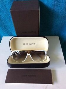 Louis Vuitton Evidence Sunglasses White Gold Unisex