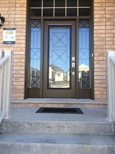WROUGHT IRON & DECORATIVE GLASS DOOR INSERTS(CATALOG LINK BELOW)