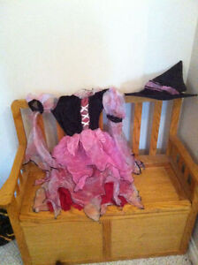 Girl Pink and Black Princess or Pirate / Witch Halloween Costume