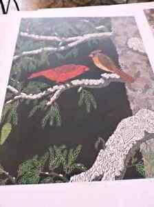 Christopher clark limited edition print - cardinals