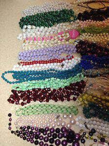 60 plus necklaces - bead, pearl, she'll, jade, glass Cambridge Kitchener Area image 2