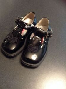 Cute Black Girl's Dress Shoes - Size 5