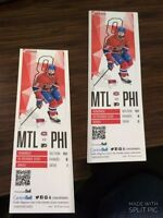 2 Hockey Tickets!! MTL vs PHI Next Friday 19 February , Sec 101
