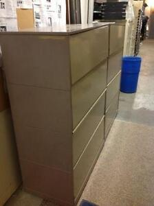 MATCHING (2x) 4 DRAWER LATERAL FILING CABINETS