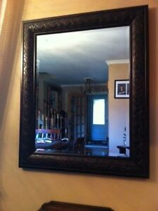 Large Mirror w Thick Frame Very Nice!