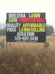 SPRING HAS SPRUNG. TIME TO ROLL AND AERATE YOUR LAWN!