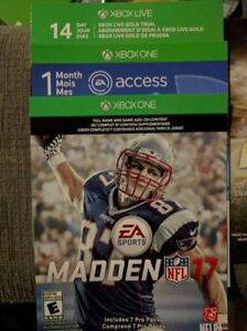 Madden 17 Xbox One Digital Code w/ EA Access Trial Code Kitchener / Waterloo Kitchener Area image 1