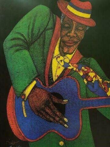 """Charles Bibbs """" The Old Pasadena Jazz Fest """" 1996 Commemorative Print"""