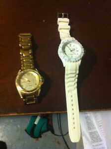 LOU LOU Gold Plated and White female watches water resistance...