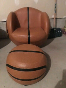 Kids Sports Swivel Chairs with Ottoman
