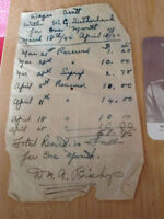 Rare Document Billy Bishop document with Signature