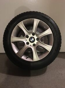 16 inch BMW rims and SNOW TIRES (128I)