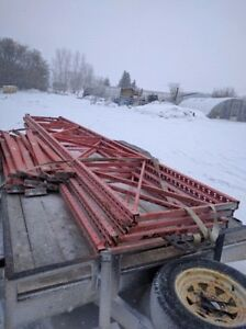 """3 SECTIONS, 9 LAYERS of 42"""" WIDE x 20' HIGH PALLET RACKING $800"""