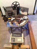 Trade, 8mm Projector, 2 Super 8 Cameras & Screen 4 Music Gear