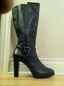 Platform boots.   Leather.   Just want a chance.   Size 10.