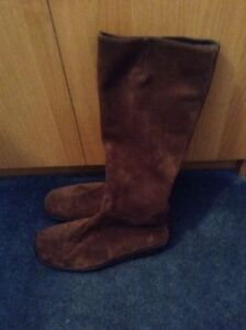 Roots Brown Suede Boots size 9