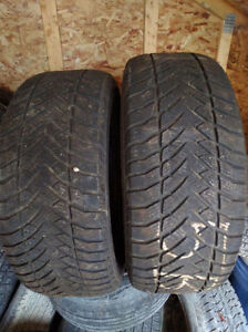 265 60 r17 TWO GOODYEAR EAGLE ULTRA GRIP ICE WINTER TIRES $120