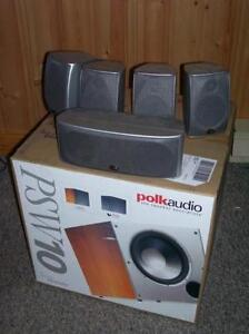 POLK Audio 7.1 surround speakers with NEW sub !!!