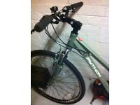 Ladies hybrid 18 inch frame bike for sale. Barely used!