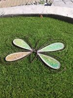 Garden Mosaic glitter 2 butterflies hanging wall decoration