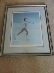 Figure skater signed print by Danby.