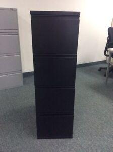 4 drawer black filing cabinet