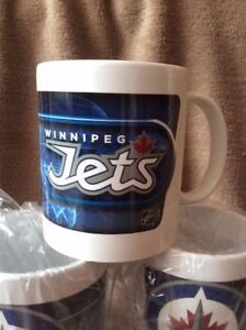 6 OFFICIAL WINNIPEG JETS COFFEE MUGS