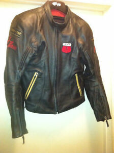 Motorcycle Jacket. Power Trip Black Widow. Thick Leather coat.
