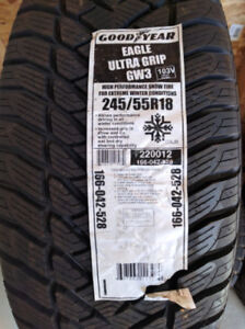 245 55 r18 THREE GOODYEAR EAGLE ULTRA GRIP ICE WINTER TIRES $200