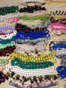 60 plus necklaces - bead, pearl, she'll, jade, glass Cambridge Kitchener Area image 3