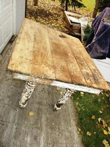 Vintage table with patina $125.00