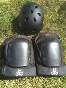 Brand New in Box S-One Helmet & Triple 8 Knee Pads Stratford Kitchener Area image 1
