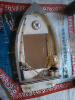 wooden boat mirror-key holder