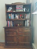 A vintage bookshelf - real wood