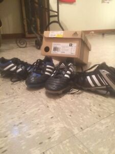 2 pairs youth soccer shoes adidas