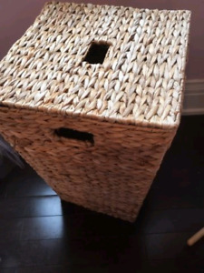 Pottery Barn Style Wicker Laundry Basket