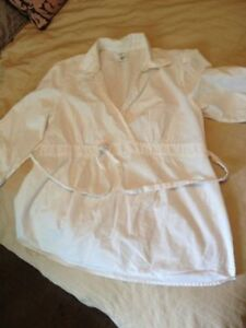 Motherhood Maternity White Blouse XL