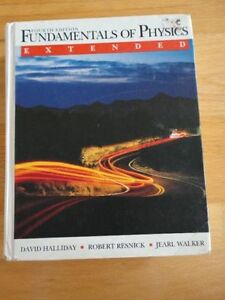 Fundamentals of Physics Extended Hardcover Textbook Halliday London Ontario image 1