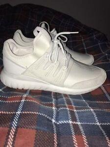 Adidas Tubular Triple White - Worn once - Size 9.5