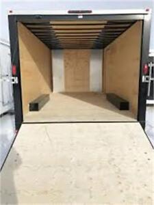 FOR RENT ENCLOSED TRAILERS 7X14 8.5X20 EXTRA HEIGHT AVAILABLE
