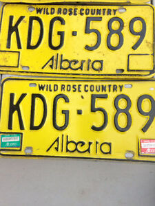COME ON MAKE A REASONABLE OFFER ON VINTAGE ALBERTA PLATES