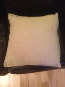 3 BEIGE OFF WHITE SOFA COUCH FUTON BED FABRIC THROW PILLOWS+++++