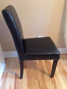 Dining chair wood frame & legs foamleatherBrand new in Box