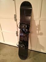 K2 Fuse Snowboard and Bindings Size 155