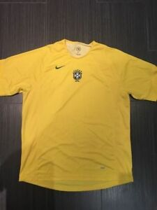 Rare Official Nike Brazil Soccer Warm-up Jersey  Size: XL