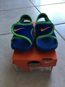 Nike Blue/Green Sandal adjustable strap Toddler Sz5C NEW