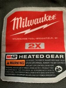 Milwaukee Heated Jacket includes battery and charger worn only once pe